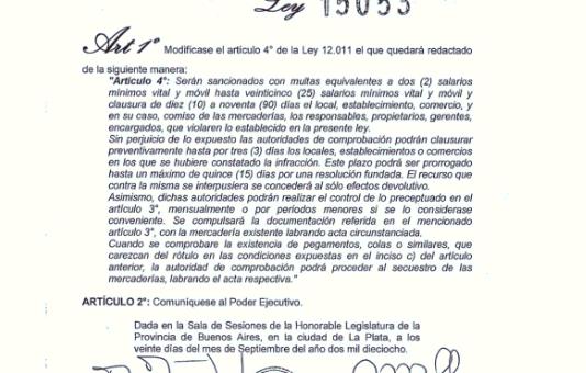 Ventas prohibidas en la provincia de Buenos Aires.