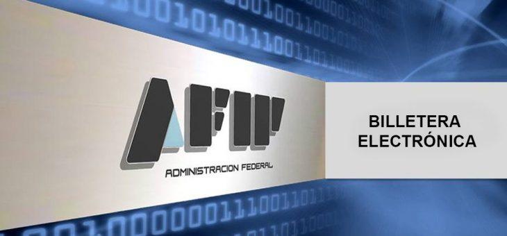AFIP. Billetera electrónica.