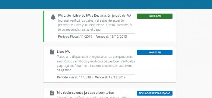 Portal IVA.  IVA Listo.