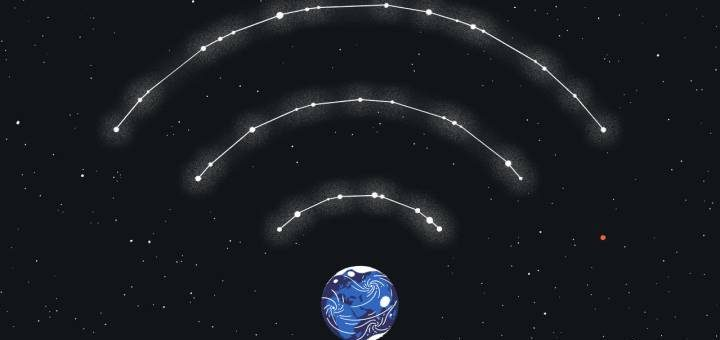 Internet satelital.